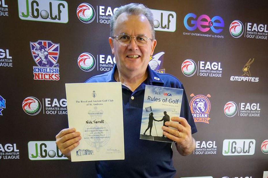 Nick Tarratt appointed EAGL Mini-Series Director in Dubai